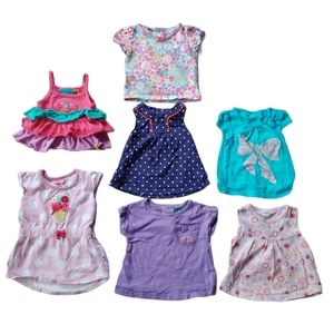 Lot of 7 Girl's T-shirts/Tank Tops, 12m
